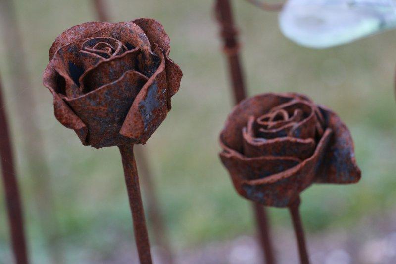 Rose, handgeschmiedet