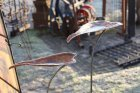 Kupfer-Vogelbad