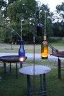 Glasflaschen Lampe