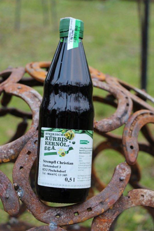 0,5 Liter 100% reines Kürbiskernöl vom Bauern