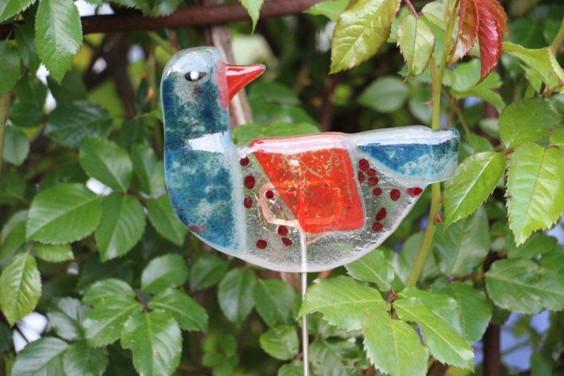 bunte Glas Vögel