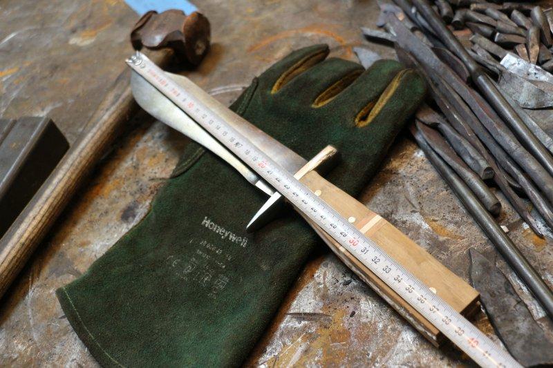 Großes Damast Messer selber  schmieden
